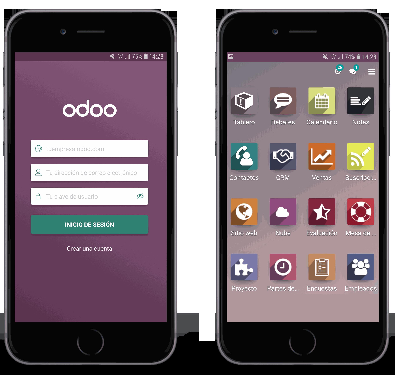 Imagen de Odoo y bloque de texto